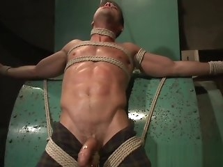 bondage Handsome muscle stud edged greatest extent bound bdsm