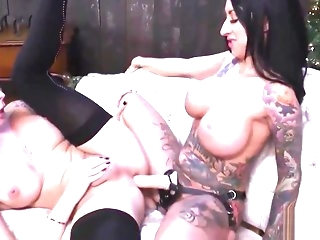 fetish Shemale Gender On every side Honcho Tattooed Milf bdsm