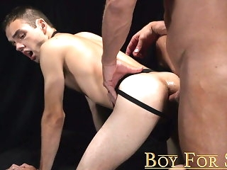 bareback (gay) Silver daddy Dallas Steele breeds slave with monster cock twink (gay)