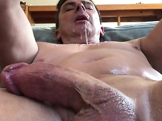 blowjob (gay) DILF Gags Throating Dildo amateur (gay)