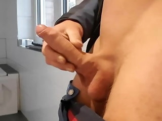 amateur (gay) Young guy jerks his load of shit to long upper case cumshot at operate man (gay)